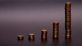 Bunt för guld- mynt fotografering för bildbyråer