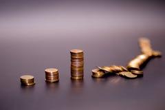 Bunt för guld- mynt arkivbild