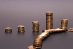 Bunt för guld- mynt arkivfoton