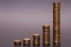 Bunt för guld- mynt royaltyfri foto