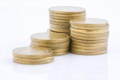 Bunt för guld- mynt Royaltyfri Fotografi