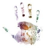 Bunt Hand-drucken Sie gemalt Lizenzfreie Stockfotografie
