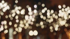 Bunt, verwischt, beleuchtet bokeh Hintergrund im warmen Ton Volle HD-Schleife, 1080p Lizenzfreie Stockbilder