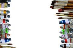 Bunt vom Aquarellrohr auf Weißbuchhintergrund Lizenzfreie Stockbilder