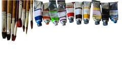 Bunt vom Aquarellrohr auf Weißbuchhintergrund lizenzfreie stockfotografie