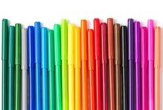 Bunt vom Farbstift lokalisiert Lizenzfreies Stockfoto