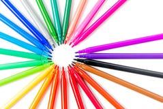 Bunt vom Farbstift lokalisiert Stockfoto