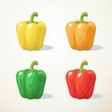Bunt vom Gemüsepaprika Stockfoto