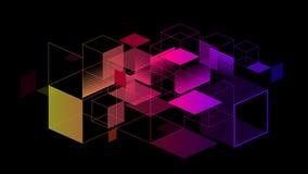 Bunt vom geometrischen Elementzusammenfassungshintergrund Stockfoto