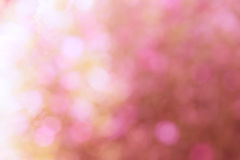 Bunt von bokeh Licht unscharfem süßem Rosa Stockfotos