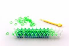 Bunt von den elastischen Webstuhlbändern Stockfotografie
