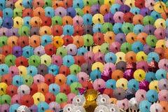 Bunt von den Regenschirm-Hintergründen u. den Beschaffenheiten Lizenzfreie Stockfotografie
