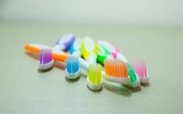 Bunt von der Zahnbürste Stockfotografie