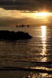 buntal soluppgångby Royaltyfri Bild