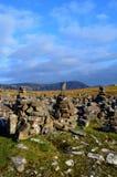 Buntar av att önska vaggar på Neist punkt i Skottland fotografering för bildbyråer