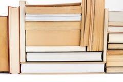 Buntar av böcker Arkivbild