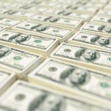 Buntar av dollarräkningar Arkivfoton