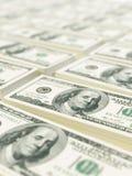 Buntar av dollarräkningar Royaltyfria Bilder