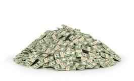 Buntar av hundra US dollar royaltyfri illustrationer