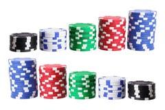 Buntar av pokerchiper Royaltyfria Foton