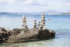 Buntar av stenar arkivfoto
