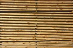 Buntar av trä på en stora Barrington, Massachusetts bråtegård Fotografering för Bildbyråer