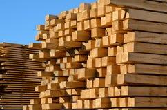 Buntar av träbräden Arkivfoto