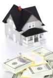 buntar den främre husmodellen för dollar Royaltyfri Bild
