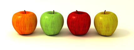 Bunte Äpfel Lizenzfreies Stockfoto