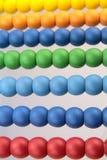 Bunte Abakusperlen, Makrobild Stockbild