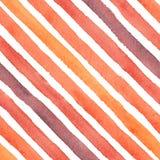 Bunte abstrakte Aquarelldiagonale streicht nahtloses Muster lizenzfreie abbildung