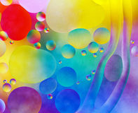 Bunte abstrakte Blasen Stockbilder