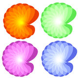 Bunte abstrakte Blume Stockbild
