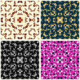 Bunte abstrakte Blumenblumenblattsammlung der Vektorillustration Stockbilder