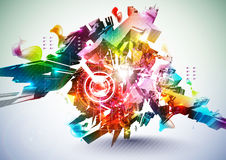 Bunte abstrakte Digital-Kunst Lizenzfreie Stockfotos