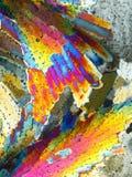 Bunte abstrakte Eiskristalle Lizenzfreies Stockfoto