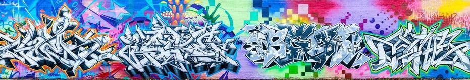 Bunte abstrakte Graffiti-Welt Stockbild