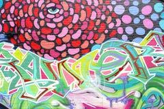 Bunte abstrakte Straßenkunst, Adelaide, Süd-Australien Stockbild