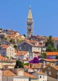 Bunte adriatische Stadt von Losinj Stockbild