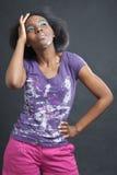 Bunte Afrofrau lizenzfreie stockbilder