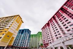 Bunte allgemeine Wohnungen Stockfotos