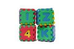 Bunte Alphabete Stockbild