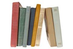 Bunte alte Bücher lokalisiert Stockfoto