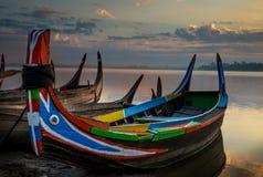 Bunte alte Boote Lizenzfreie Stockfotografie