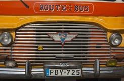 Bunte alte Busse VALLETTA/MALTA Lizenzfreies Stockbild
