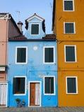 Bunte alte Häuser Murano Venedig Stockbild