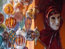 Bunte Andenken vom berühmten murano Glas Stockfotografie
