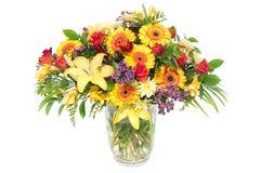 Bunte Anordnung für üppige Frühlingsblumen Lizenzfreies Stockfoto