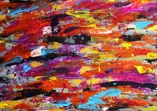 Bunte Anschläge der Acrylfarbe Stockfotos