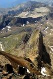 Bunte Ansichten von Bergen in den Pyrenäen Lizenzfreies Stockfoto
